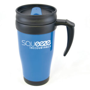 Coloured Travel Mug Blue