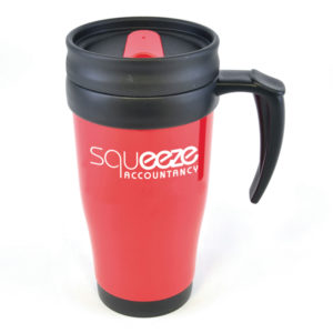 Express Printed Mugs - Coloured Travel Mug Red