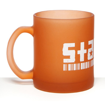 Branded Glassware - Colour Coated Glass Mugs