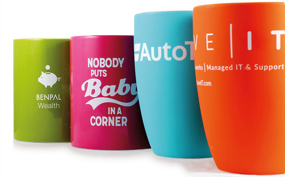 Pantone matched mugs underline your corporate identity
