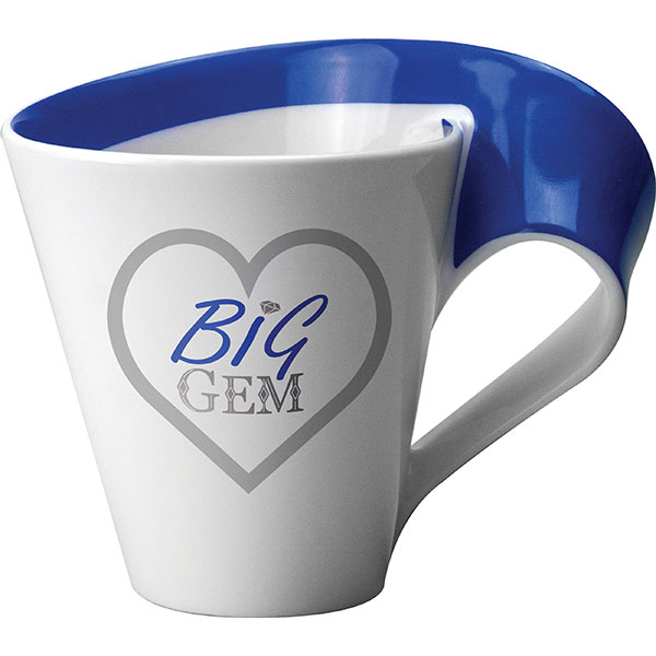 Porcelain mugs are a presigious way to delight your customers